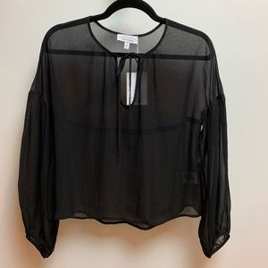 & Other Stories Black Chiffon Blouse - Size 6
